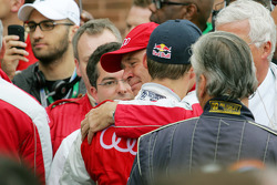 Race winner Martin Tomczyk, Audi Sport Team Phoenix, Audi A4 DTM with Wolfgang Ullrich