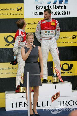 Podium: race winner Martin Tomczyk, Audi Sport Team Phoenix, Audi A4 DTM, second place Mattias Ekstr