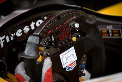 Steering wheel of Ryan Hunter-Reay, Andretti Autosport