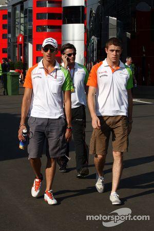 Adrian Sutil, Force India F1 Team, Paul di Resta, Force India F1 Team