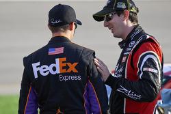 Denny Hamlin, Joe Gibbs Racing Toyota et Kyle Busch, Joe Gibbs Racing Toyota
