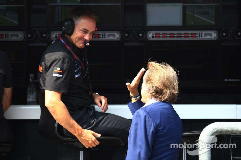 Martin Whitmarsh, McLaren, Şef Sorumlusu ve Luca di Montezemolo, Scuderia Ferrari, FIAT Yönetim Kuru