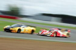 #70 Kessel Racing Ferrari F430: Michael Broniszewski, Philipp Peter #13 Rebellion Racing Lola B10/60