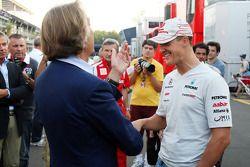 Luca di Montezemolo, Scuderia Ferrari, Presidente de FIAT y Presidente de Ferrari y Michael Schumach