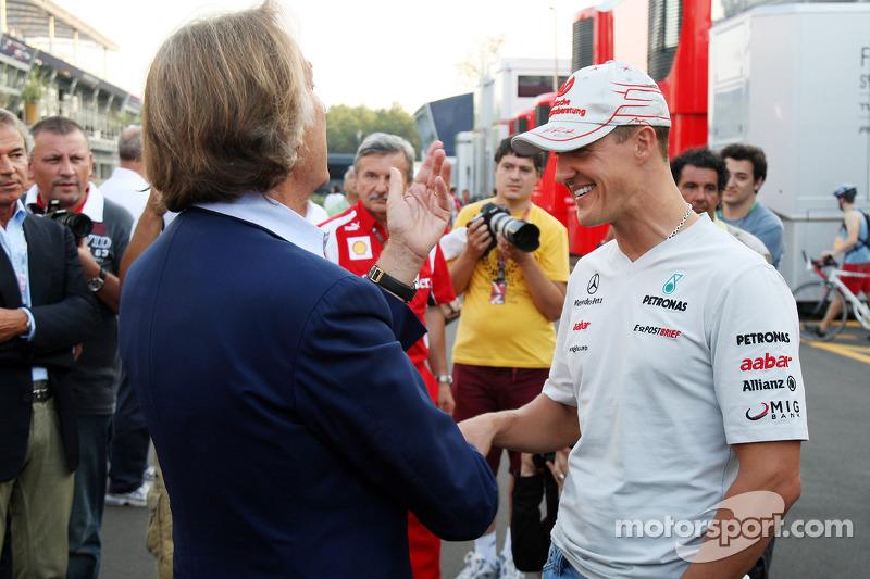 Luca di Montezemolo, Scuderia Ferrari, FIAT Yönetim Kurulu Başkanı ve Başkanı, Ferrari ve Michael Sc