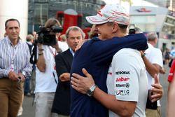 Luca di Montezemolo, Scuderia Ferrari, FIAT Chairman and President of Ferrari and Michael Schumacher