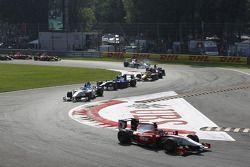 Luca Filippi leads Charles Pic, Alvaro Parente and Romain Grosjean