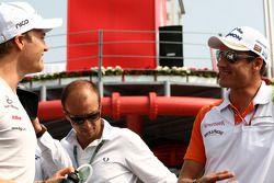 Nico Rosberg, Mercedes GP F1 Team, Adrian Sutil, Force India F1 Team