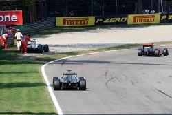 Sergio Pérez, Sauber F1 Team, parando en pista