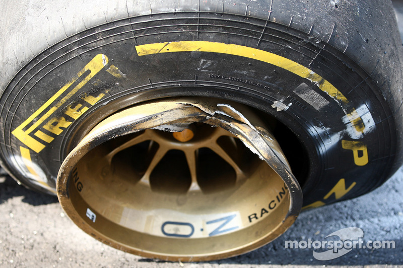A broken tyre