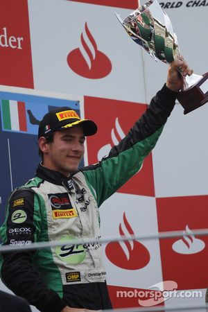 Christian Vietoris celebrates his victory on the podium