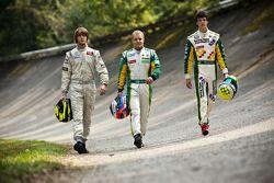 Valtteri Bottas, James Calado y Nigel Melker, podio del campeonato 2011 de la GP3