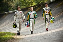 Valtteri Bottas, James Calado et Nigel Melker, premier, deuxième et troisième du GP3 Series 2011