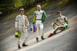 Valtteri Bottas, James Calado and Nigel Melker, first second and third in the 2011 GP3 Series champi