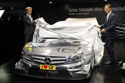 The new 2012 DTM AMG Mercedes C-Coupé unveiled by Nico Rosberg and Michael Schumacher
