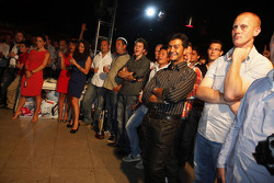 Fairuz Fauzy and the guests enjoy the award ceremony