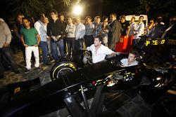 Davide Valsecchi on the Pirelli simulator