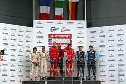 LMGTE PRO Podium: Winners #51 AF Corse Ferrari F430: Giancarlo Fisichella, Gianmaria Bruni, 2nd: #59