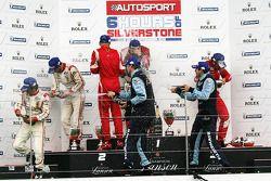 LMGTE PRO Podium: Winners #51 AF Corse Ferrari F430: Giancarlo Fisichella, Gianmaria Bruni, 2nd: #59 Luxury Racing Ferrari F458 Italia: Stéphane Ortelli, Frederic Makowiecki, 3rd: #77 Team Felbermayr Proton Porsche 911 RSR: Marc Lieb, Richard Lietz