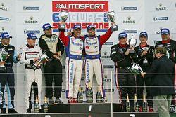 LMGTE Am Podium: winnaars: #67 IMSA Performance Matmut Porsche 911 RSR: Raymond Narac, Nicolas Armin
