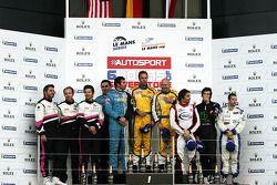 FLM Podium: winnaars: #95 Pegasus Racing Formula Le Mans - Oreca - 09: Mirco Schultis, Patrick Simon