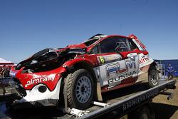 Crash Evgeny Novikov and Denis Giraudet, Ford Fiesta RS WRC