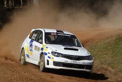 Gianluca Linari en Nicola Arena, Subaru Impreza WRX