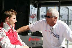 Filipe Albuquerque, Audi Sport Team Rosberg, Audi A4 DTM met Arno Zensen, Teammanager Audi Team Rosb