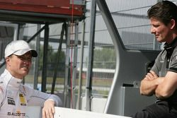 Ralf Schumacher, Team HWA AMG Mercedes C-Klasse met ingenieur