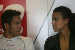 Timo Scheider, Audi Sport Team Abt Audi A4 DTM, mit Freundin Jessica Hinterseer