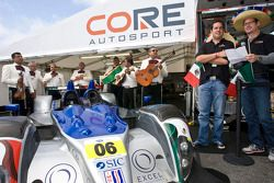 Celebration of Mexico's 201 years of independence with Luis Diaz and #05 Core Autosport Oreca FLM09: