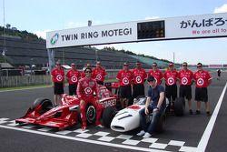 Vintage Honda F1 photoshoot: Dario Franchitti, Target Chip Ganassi Racing and Scott Dixon, Target Chip Ganassi Racing