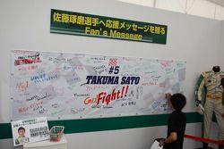 Messages for Takuma Sato, KV Racing Technology-Lotus