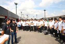 Hideki Mutoh, AFS/Sam Schmidt Motorsports and Alex Tagliani, Sam Schmidt Motorsports