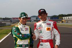 Takuma Sato, KV Racing Technology-Lotus and Hideki Mutoh, AFS/Sam Schmidt Motorsports