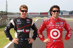 2011 championship contenders Will Power, Team Penske and Dario Franchitti, Target Chip Ganassi Racing