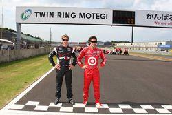 2011 championship contenders Will Power, Team Penske and Dario Franchitti, Target Chip Ganassi Racin