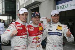 Pole Miguel Molina, Audi Sport Team Abt Junior, Audi A4 DTM, 2de Bruno Spengler, Team HWA AMG Merced