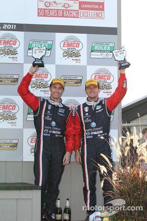 GT podium: 3de Dane Cameron en James Gue