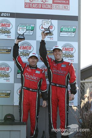 DP podium: third place Jon Fogarty and Alex Gurney