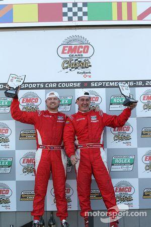 DP podium: winnaars in klasse en algemeen Ryan Dalziel en Enzo Potolicchio
