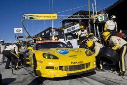 Pitstop #3 Corvette Racing Chevrolet Corvette C6 ZR1: Olivier Beretta, Tom Milner