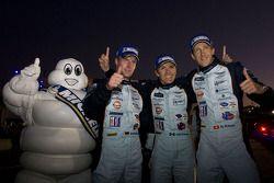 Race winnaars Adrian Fernandez, Harold Primat, Stefan Mücke