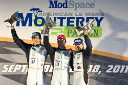 LMP1 podium: class and overal winners Adrian Fernandez, Harold Primat, Stefan Mücke