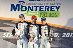 LMP1 podium: winnaars Adrian Fernandez, Harold Primat, Stefan Mücke