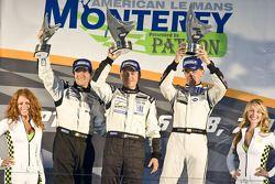 LMP2 podium: winnaars Scott Tucker, Christophe Bouchut, Luis Diaz