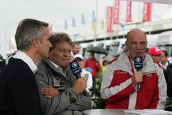 Jens Marquardt, BMW-Motorsportdirektor; Norbert Haug, Mercedes-Sportdirektor, Dr. Wolfgang Ullrich,
