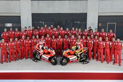 Ducati Team photoshoot: Nicky Hayden, Ducati Team and Valentino Rossi, Ducati Team