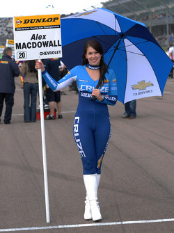 Sophie Fisher, grid girl to Alex MacDowall