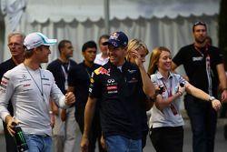 Nico Rosberg, Mercedes GP F1 Team and Sebastian Vettel, Red Bull Racing